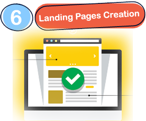 Landing pages creation