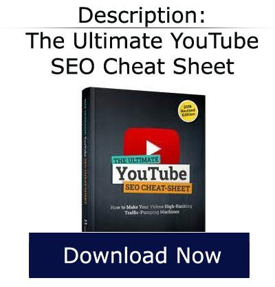 ultimate seo youtube cheat sheet